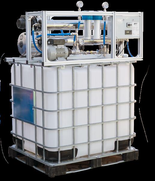OSMOpure 500 - Osmoseanlage mit Zulauf-IBC als Vorspeicher und Druckerhöhung