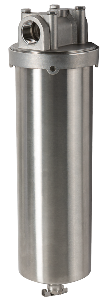 "Wasserfilter Filtergehäuse Edelstahl V4A 2,5"" x 10"""