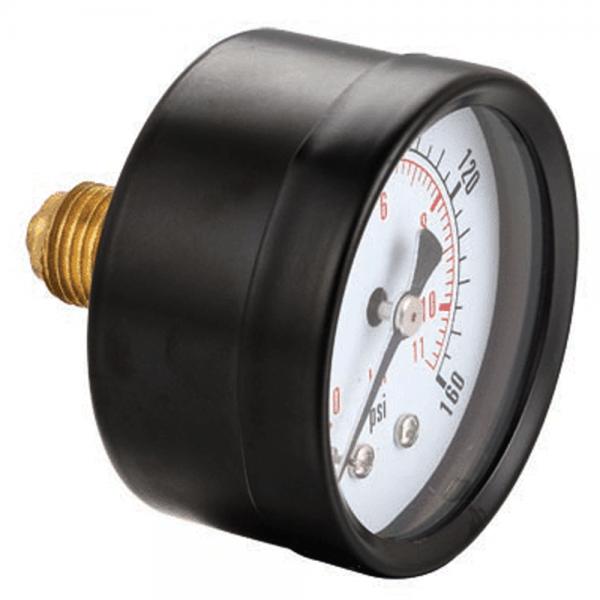 Manometer Ø 63 mm, Stahl, Anschluß hinten