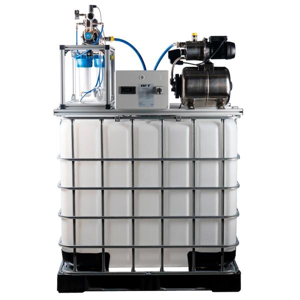 OSMOpure 90 - Osmoseanlage mit IBC Tank und Druckerhöhung