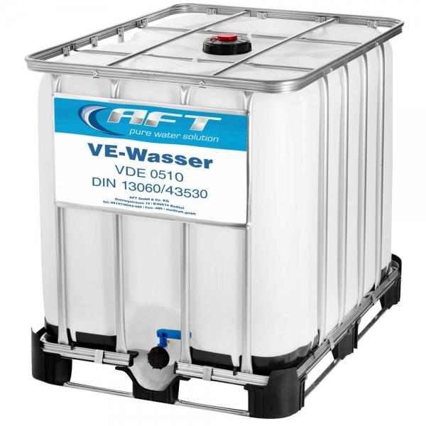 VE-Wasser 1000 Liter im IBC - Neubefüllung